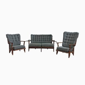 Mid-Century Living Room Set by Guillerme et Chambron for Votre Maison