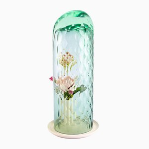 Tall Green Op Vase by Bilge Nur Saltik