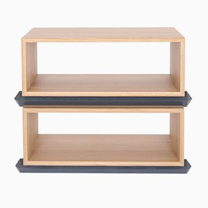 Stack Storage Two-Tier Wood Open Shelves from Debra Folz Design