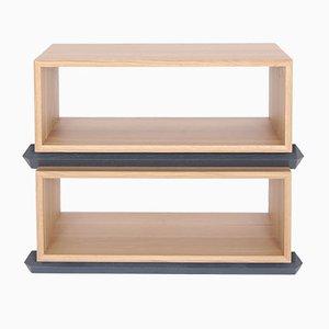 Stapelbare Zweiteilige Holzfächer von Debra Folz Design