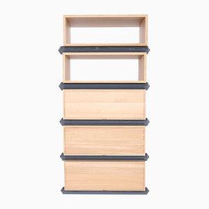 Stapelbare Fünfteilige Holzfächer und Schubladen von Debra Folz Design