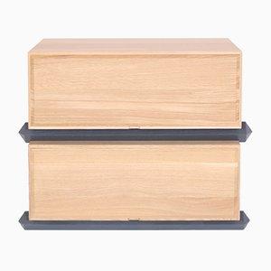 Stapelbare Zweiteilige Holz Schubladen von Debra Folz Design