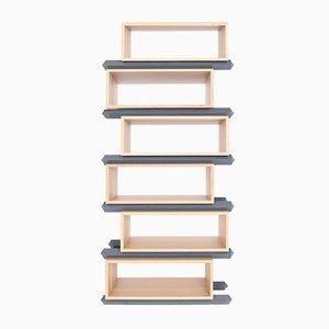 Stapelbare Versetzte Sechsteilige Holzfächer von Debra Folz Design