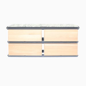 Stapelbare Zweistufige Holz Schubladen mit Steinplatte von Debra Folz Design