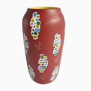 Mid-Century Modern Ceramic Floor Vase by Bodo Mans for Bay, 1950s