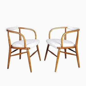 Dänische Moderne Vintage Skulpturale Armlehnstühle, 2er Set