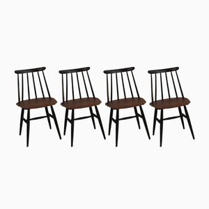 Vintage Fanett Dining Chairs by Ilmari Tapiovaara for Edsby Verken, Set of 4