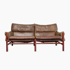 Sofá de 2 plazas Kontiki vintage de cuero de Arne Norell