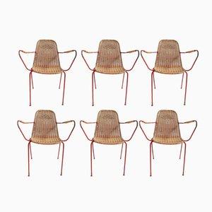 Italian Vintage Garden Chairs, Set of 6