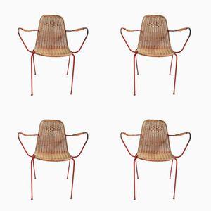 Chaises de Jardin Vintage, Italie, Set de 4