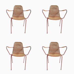 Italian Vintage Garden Chairs, Set of 4