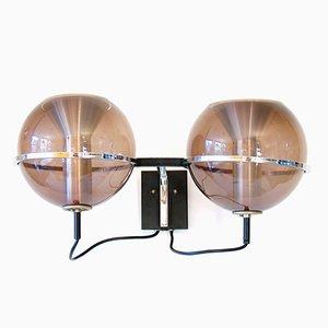 Vintage Wandlampe mit Kugelleuchten von Frank Ligtelijn für Raak, 1970er