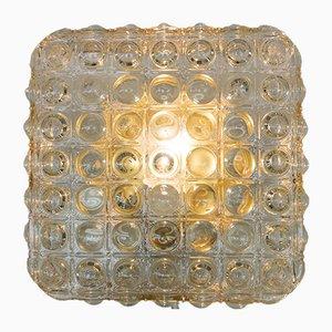 Luce da parete grande in vetro con struttura a bolle, anni '60