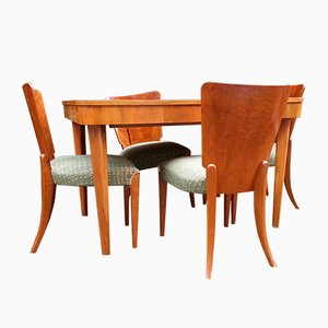 Model H-214 Dining Set by Jindrich Halabala, 1960s