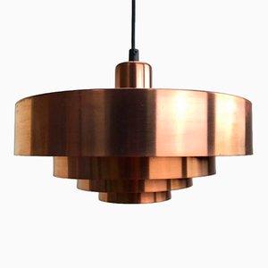 Lámpara de techo Roulet danesa Mid-Century de cobre de Jo Hammerborg, 1963