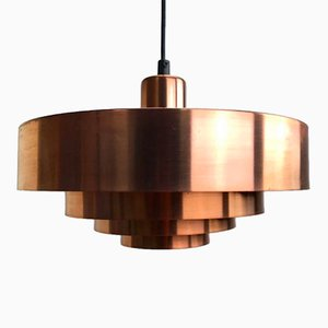 Mid-Century Danish Roulet Copper Ceiling Light by Jo Hammerborg, 1963