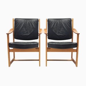 Armchairs by Sven Kai Larsen for Nordiska Kompaniet, 1960s, Set of 2