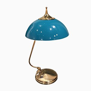 Italian Blue Table Lamp, 1950s