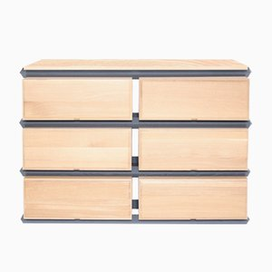 Stack Storage Three-Tier Wide Wood Drawers with Wood Top from Debra Folz Design