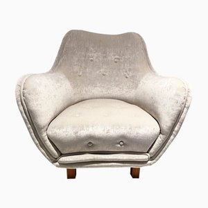 Button Tufted Lounge Chair from Levy Carlssons Möbelafärr, 1940s