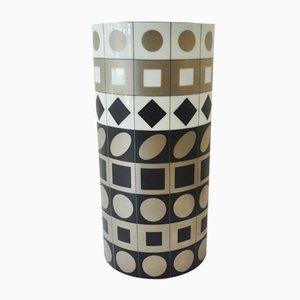 Jarrón de porcelana de Victor Vasarely para Rosenthal, años 70