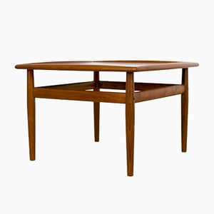 Vintage Square Teak Coffee Table by Grete Jalk for Glostrup