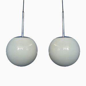 Lampes à Suspension en Verre de Peil & Putzler, 1960s, Set de 2