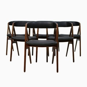 Mid-Century Danish Teak Dining Chairs by Th. Harlev for Farstrup Møbler, 1950s, Set of 6