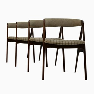 Dänische Mid-Century Teak Stühle von Th. Harlev für Farstrup Møbler, 1950er, 4er Set