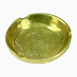 Vintage Solid Bronze Ashtray, 1950s