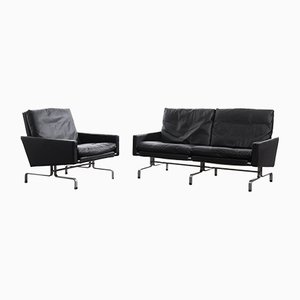Vintage PK31/1 Armchair & PK31/2 Sofa by Poul Kjaerholm for E. Kold Christensen