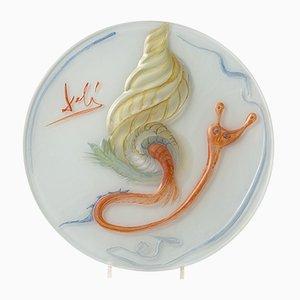 The Snail Glass Teller von Salvador Dali für Rosenthal, 1979