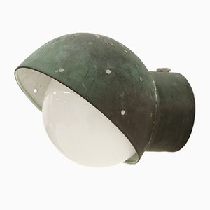 Outdoor Wall Light in Copper by Paavo Tynell for Idman, 1950s
