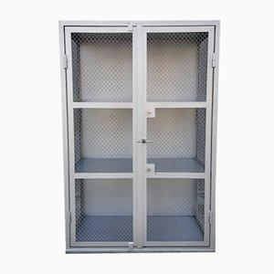 Metal & Mesh Industrial Cabinet, 1950s
