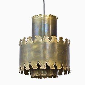 Lámpara colgante Mid-Century de latón de Svend Aage Holm Sørensen para Holm Sørensen & Co