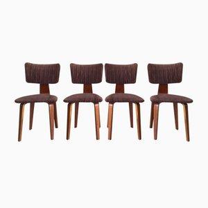 Mid-Century Esszimmerstühle von Cor Alons & J.C. Jansen für Den Boer Gouda, 4er Set