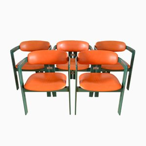 Mid-Century Pamplona Armchairs by Augusto Savini for Pozzi, 1960s, Set of 5
