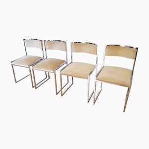 Italienische Stühle aus Stahl & Chrom, 1970er