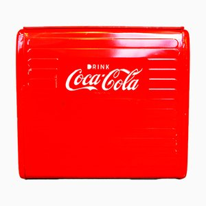 Coca Cola Cooler from St. Thomas Metal Signs, 1955