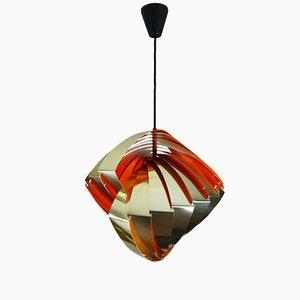 Lámpara colgante Konkylie danesa de Louis Weisdorf para Lyfa, años 60