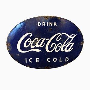 Panneau Coca Cola Émaillé, Inde, 1950s