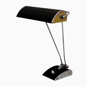 Vintage Chrome-Plated Metal Table Lamp by Eileen Gray for Jumo
