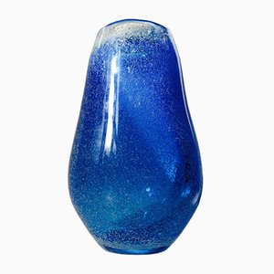 Blue Galaxy Art Glass Vase by Bertil Vallien for Kosta Boda, 1970s