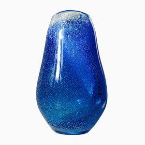 Jarrón Galaxy Art en azul de vidrio de Bertil Vallien para Kosta Boda, años 70