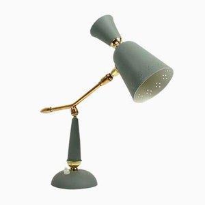 Lámpara de mesa francesa Mid-Century vintage, años 50