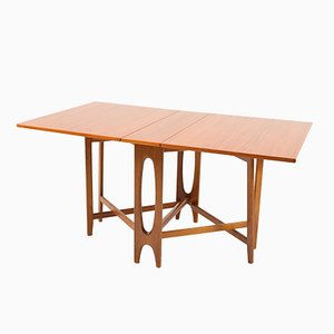 Vintage Drop-Leaf Teak Dining Table by Bendt Winge for Kleppes Møbelfabrikk