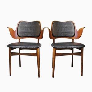 Sedie di Arne Hovmand Olsen, anni '60, set di 2