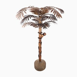 Lampadaire Vintage Palmier en Laiton