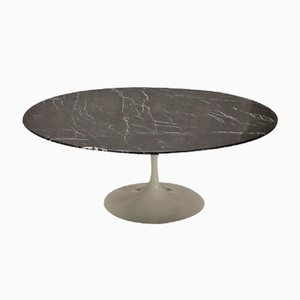 Table Basse Vintage Noire Tulip par Eero Saarinen pour Knoll international