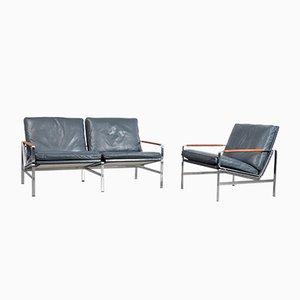 Sofá de dos plazas FK 6720 vintage con silla de Fabricius & Kastholm para Kill International